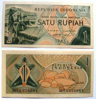 Uang Kuno 1 Rupiah Perak Mahar Per Pcs uang kuno buat mahar uang kertas 1 rupiah emisi 1961