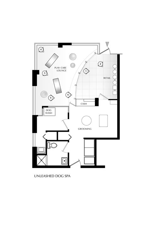 dog grooming salon floor plans unleashed dog spa by square one interiors karmatrendz