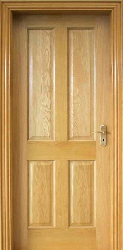 4 Panel Interior Wood Door 4 Panel White Oak Door 40mm Doors Oak Doors