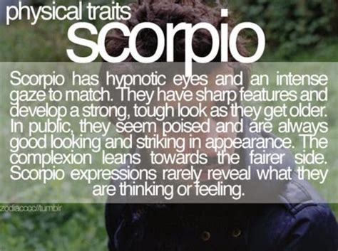 scorpio physical traits scorpio quotes