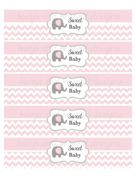Free Printable Water Bottle Labels For Baby Shower by Baby Shower Water Bottle Labels Sweet Bumpandbeyonddesigns