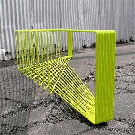 field bench linear geometry furnishings field bench