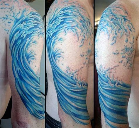 next wave tattoo 60 wave designs for an of manly ideas