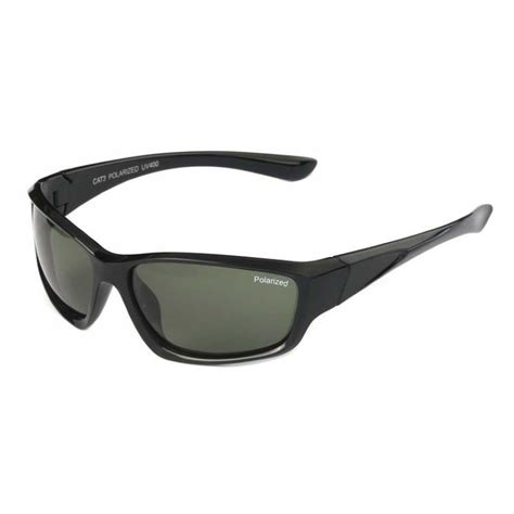 Oroginal Kacamata Sunglasses Sports Polarized Black polarized driving sport sunglasses shiny black frame green anti glare lens