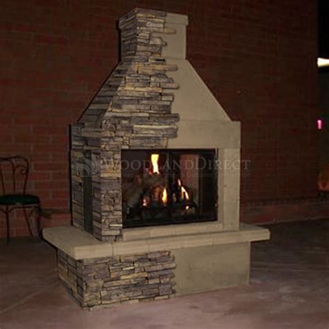 outside wood burning fireplace mirage 3 sided wood burning outdoor fireplace
