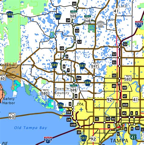 cashless toll roads florida map florida toll roads map