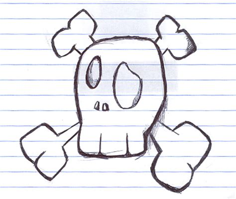 things to drow some easy things to draw skull draw by coxao on