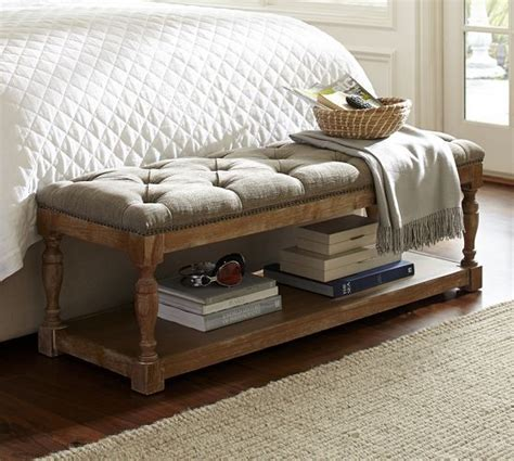 pottery barn storage bench cassandra upholstered storage bench