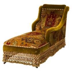antique velvet chaise longue at 1stdibs