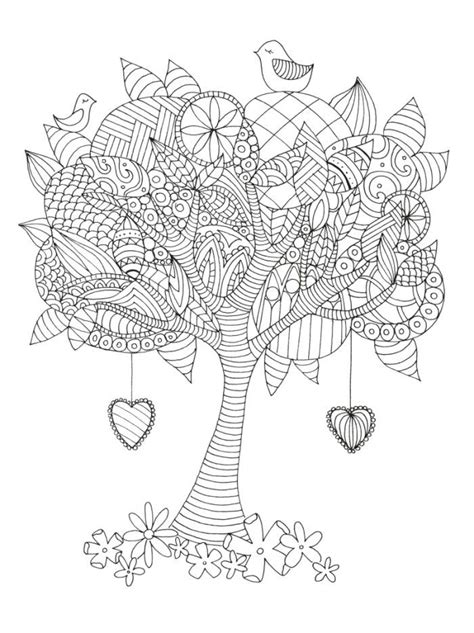 leaves coloring pages for adults tree adult colouring adult colouring trees leaves