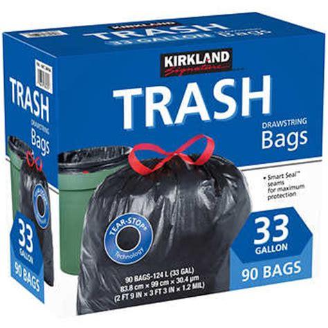 Kirkland Signature 33 Gallon Trash Bags, 90 count