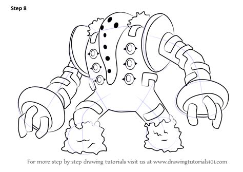 pokemon coloring pages regigigas learn how to draw regigigas from pokemon pokemon step by