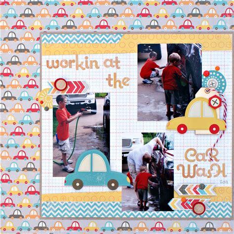 scrapbook layout new car jenny evans boys rule scrapbook kits layout car wash