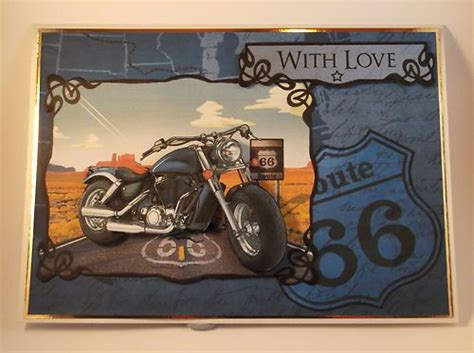 printable birthday cards motorcycle men s birthday card motorbike route 66 by