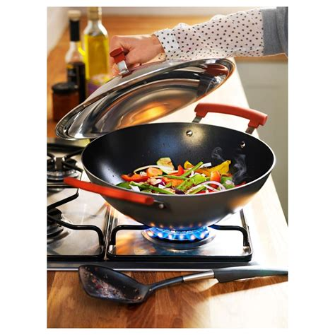 Ikea Speciell Wok 32cm ikea wok with lid identisk 248 12 3 5in also for induction