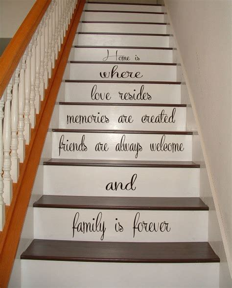 kk home decor stairs vinyl decal quote family stairway decor home stair