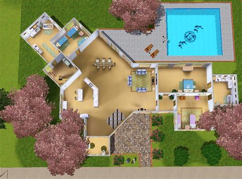 Tiny Pool House by Mod The Sims Modern House For A Big Family