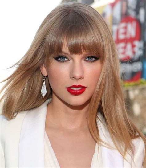 pictures of taylor swift with straight hair and bangs and bob taylor swift hairstyles sassy straight haircut with bangs