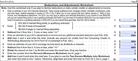 income tax exemptions in 2015 form w 4 newhairstylesformen2014 com