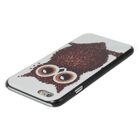 Coffee Print coffee bean owl printed back for apple iphone 6 6s 4 7 quot cover