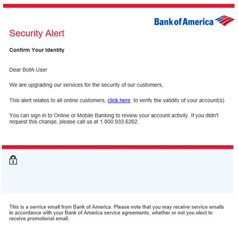 Bank Of America Letter Of Credit Department phishing and spam alerts california state