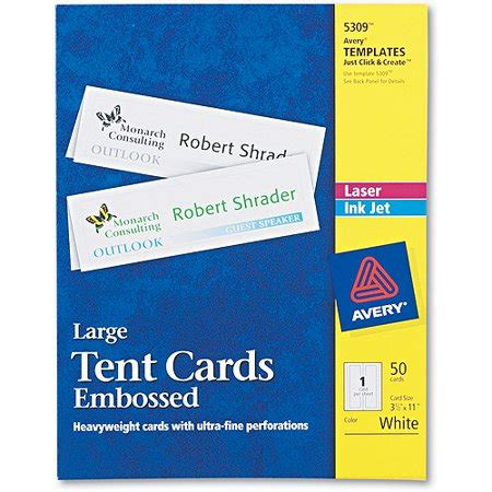 white cardstock small tent cards for laser and inkjet printing