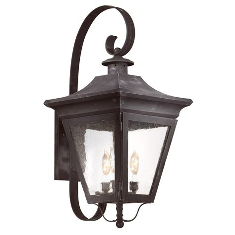 Troy Lighting Oxford 3 Light Charred Iron Outdoor Wall Lights Oxford