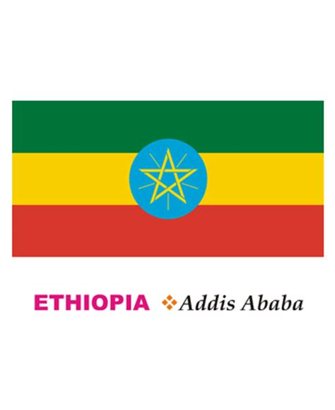 ethiopia flag coloring pages for kids to color and print