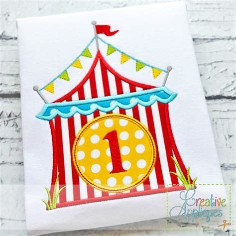 applique designs circus tent monogram applique