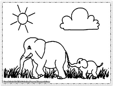 Printable Elephant Coloring Pages elephant coloring pages printable free printable