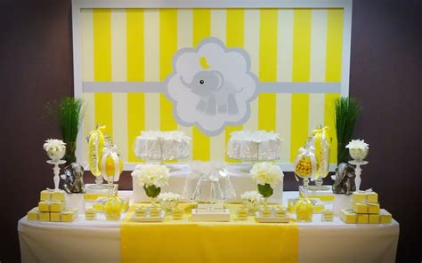 cute yellow themes we heart parties elephant themed favour sweet table