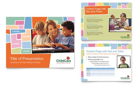 Day Care Powerpoint Presentation Templates Preschool Kids Day Care Powerpoint Presentation Powerpoint Template