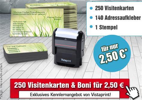 Adressaufkleber Visitenkarten by Vistaprint Kennenlernangebot B 252 Ro Grundausstattung F 252 R 2