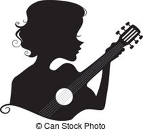 girl playing guitar clip art silhouette of a fairy girl illustration of a fairy girl s
