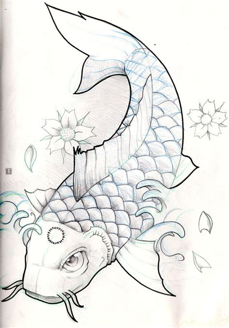 koi fish tattoo sketch koi fish pencil sketch by olimueller on deviantart