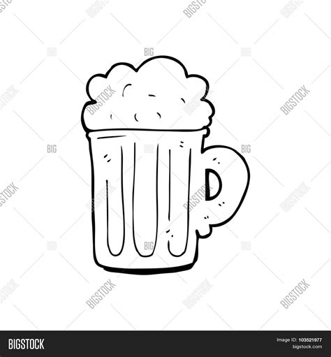 cartoon beer black and white simple black and white line drawing cartoon pint of beer