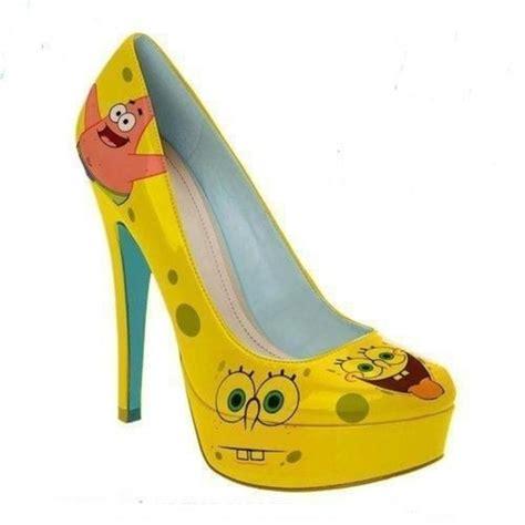 s nike dunk sb high heels yellow spongebob heels
