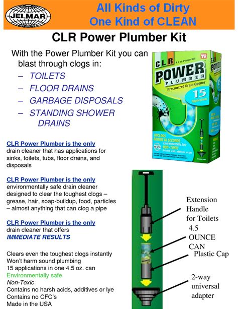 Power Plumbing by Hesco Inc Clr Power Plumber Kit