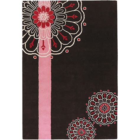 brown pink rug chandra dharma brown pink white 7 ft 9 in x 10 ft 6 in indoor area rug dha7523 79106