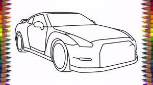 Nissan Gtr Drawing How To Draw Nissan Gtr Step By Step Drawing A Car