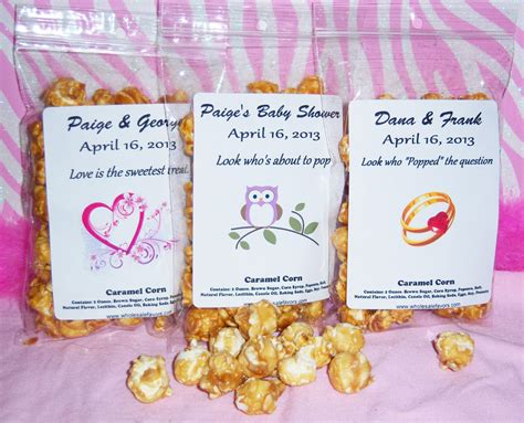 sweet sayings for bridal shower favors sayings for popcorn favors just b cause