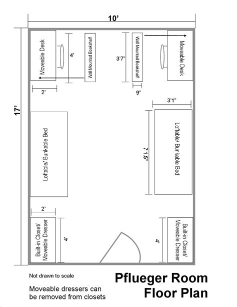 planning a room layout pflueger hall floor plans residential life plu