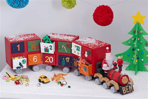 how to make a colourful advent train hobbycraft blog