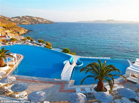 shirley location greece world s most breathtaking poolside views are revealed