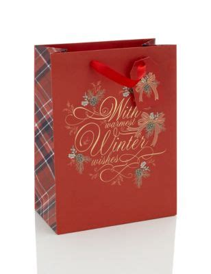 winter wishes large christmas bag | m&s