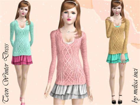 sims 3 teen clothes melisa inci s teen winter dress