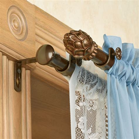 curtain and rod set bud double curtain rod set 28 quot to 170 quot
