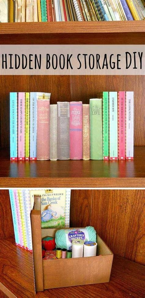 diy hidden storage 25 creative hidden storage ideas for small spaces noted list