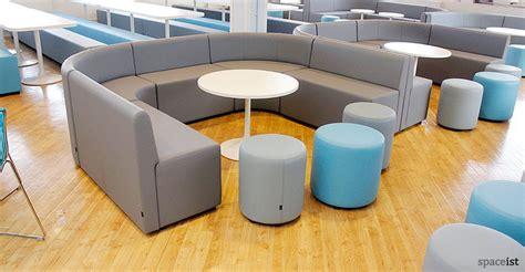 shaped grey vinyl sixth form seating cool school