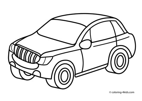 coloring pictures of cars for toddlers traffic free colouring pages